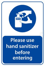 Please use the sanitizer.